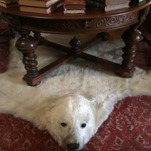 sarayda ayı postu halı